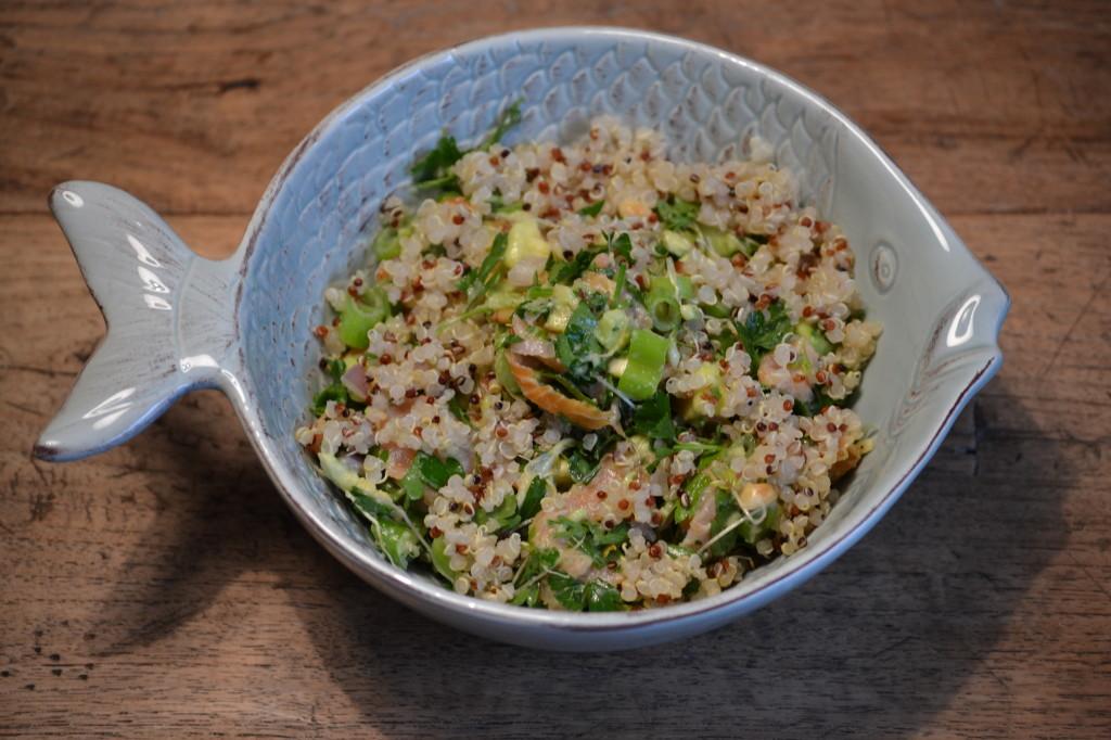 Quinoa met gerookte zalm foto 1