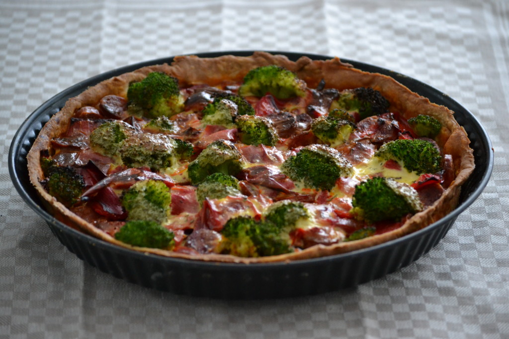 Quiche paprika broccoli chorizo (7)