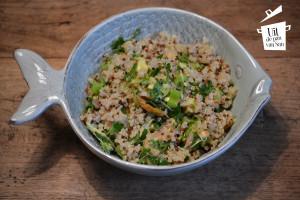 Quinoa met gerookte zalm logo