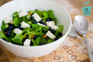 Salade met bosbessen-met logo