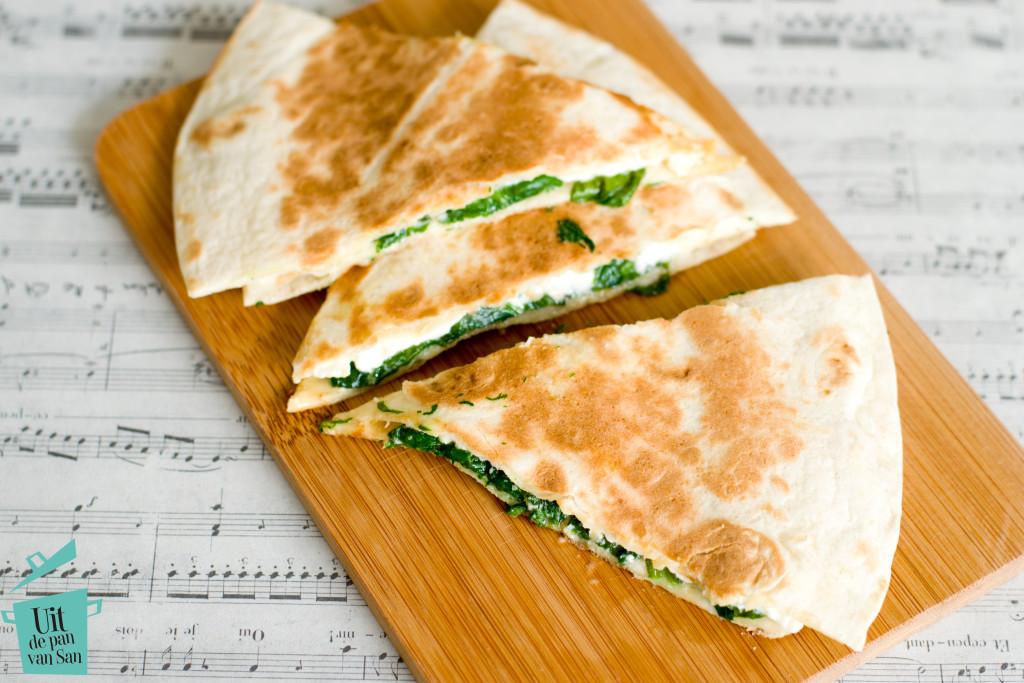 Spinazie feta quesadillas-met logo