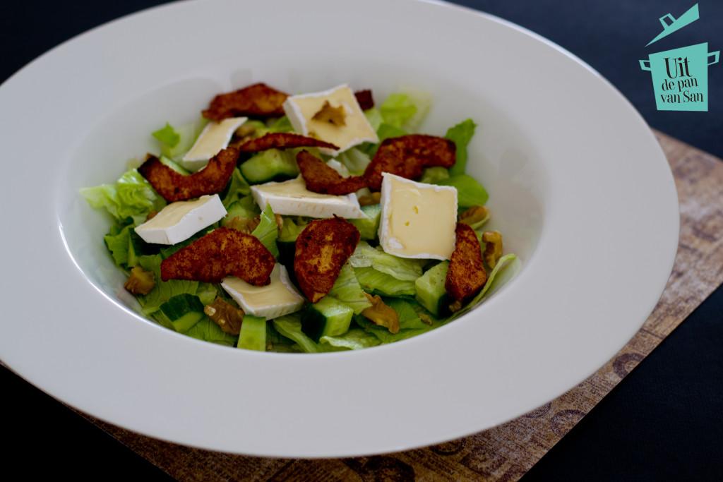 Salade met brie en kaneel appeltjes-met logo