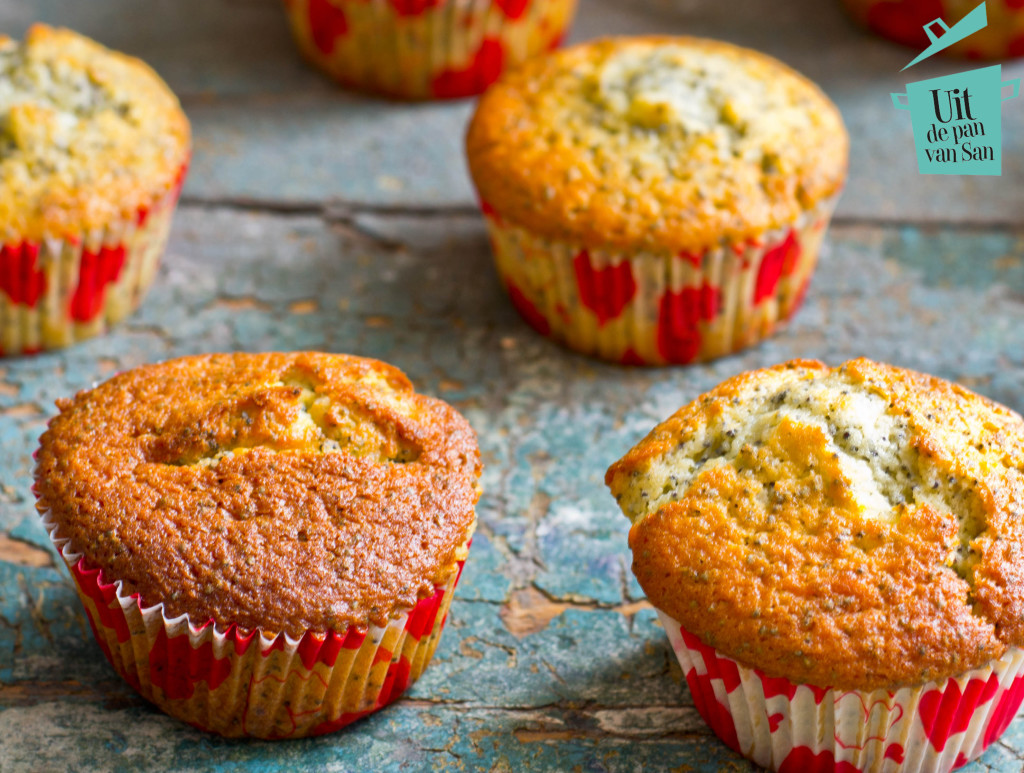 passievrucht maanzaad muffins met logo