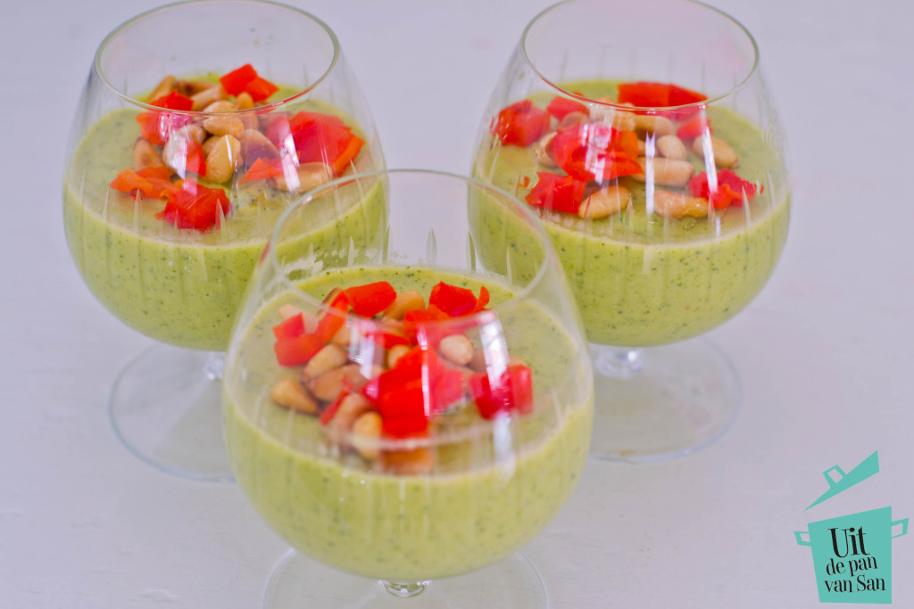 Courgette mousse met logo