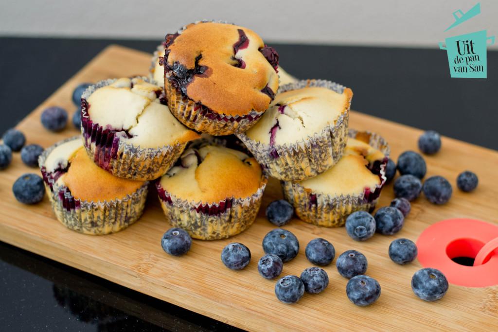 bosbessen muffins met logo
