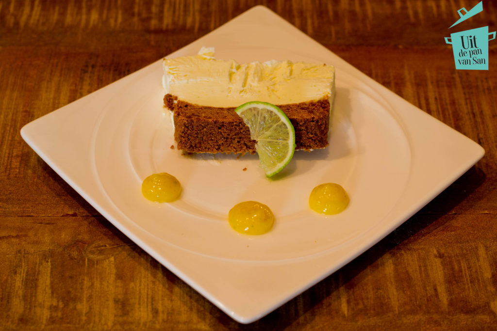 frozen lime cheesecake met logo